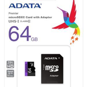 Adata 64GB SDXC Class 10 Memory Card